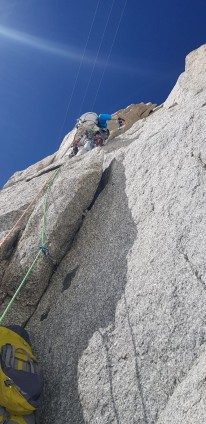 Got lost right off the ground on the first pitch! Made it on the right route though.