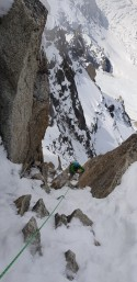 The second crux, a long section of mixed ramp which was rather awkward!