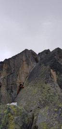 We gave Jie you the honour of leading the classic polished crack pitch of the route!