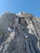 On the Aiguille Marbrees Traverse