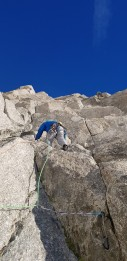Climbing on the Pyramid du Tacul