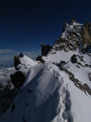 Climbing on a ridge