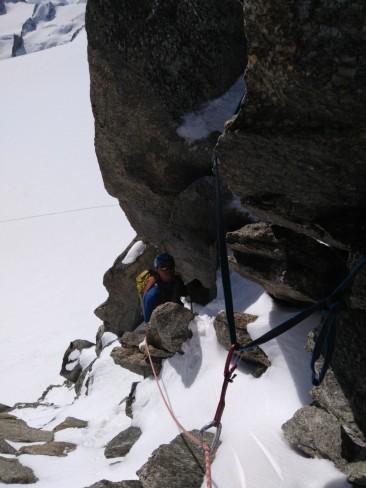 Some mixed climbing